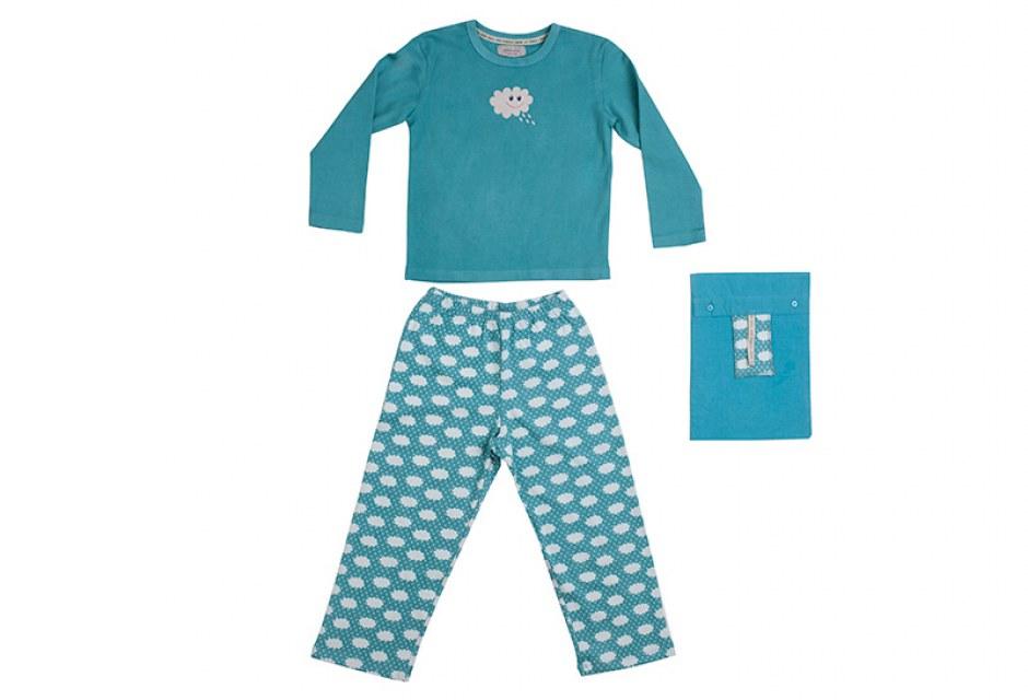 Pijama infantil de algodón ecológico Nube Feliz