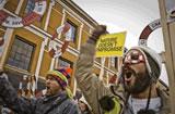 Manifestación de activistas contra el cambio climático en Dinamarca. (c) Pablo Tosco / Oxfam Intermón