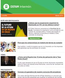 Boletín noticias Actúa Oxfam Intermón
