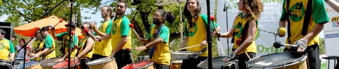 Grupo de músicos actuando a favor de Oxfam Intermón. Autor: Pablo Tosco