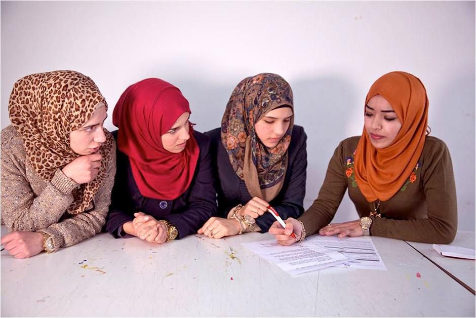 Hiba Awwad de Ramala  (Palestina) preside el  consejo de estudiantes de su universidad