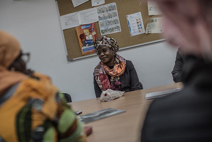 Dialla Diarra. Presidenta de la asociación de mujeres subsaharianas Legki Yakaru