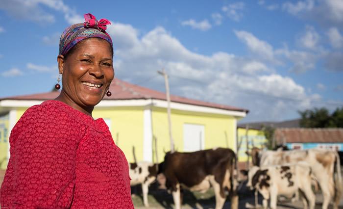 Flor Deli Cabrera, ganadera de la comunidad de Las Terreras, Azua. (República Dominicana). (c) Oxfam Intermón