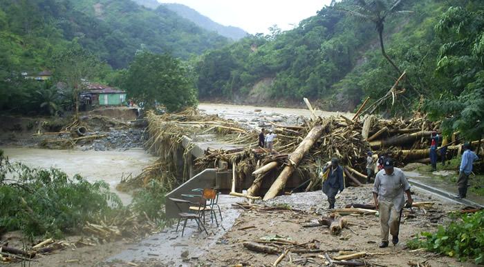 Después del paso de la tormenta tropical Noel. (c) Oxfam Intermón
