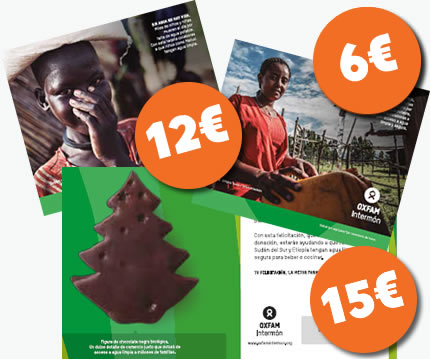 Tarjetas dulces y sorprendentes de Oxfam Intermón